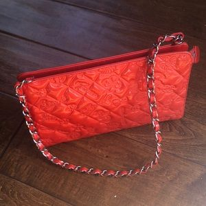 """Chanel """" lucky symbols"""" coral bag"""